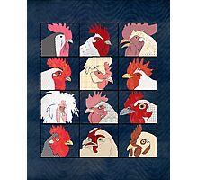 Rooster Face Photographic Print