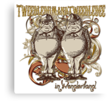 Tweedledum & Tweedledee Carnivale Style - Gold Version Canvas Print