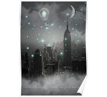 Imagination Takes You Everywhere - B&W (City Lights Series) Poster