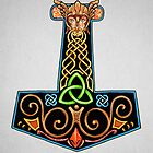 Thor's Hammer Mjollnir in Color by Cleave
