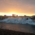 The American Falls At Sunrise by Gary Chapple