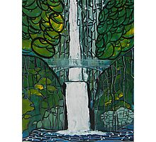 Multnomah Falls Painting Photographic Print