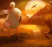 A Stork's Precious Load by JaneEden