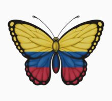 Colombian Flag Butterfly Kids Clothes