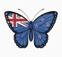 New Zealand Flag Butterfly Kids Clothes