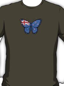 New Zealand Flag Butterfly T-Shirt