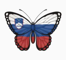 Slovenian Flag Butterfly Kids Clothes