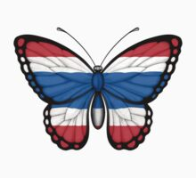 Thai Flag Butterfly Kids Clothes