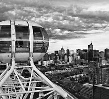 Melbourne Star View BW by DavidsArt
