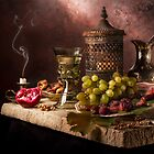 Still Life with Fruit & Kings Goblet by Jon Wild