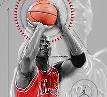 Michael Jordan Poster by Diego Riselli