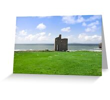 beautiful view of Ballybunion castle and green Greeting Card