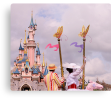 Sleeping Beauty's Castle With Mary and Bert Metal Print