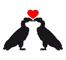 Vulture lovers heart in love by Style-O-Mat