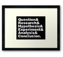 Scientific Method Helvetica Framed Print