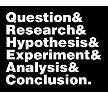 Scientific Method Helvetica Photographic Print