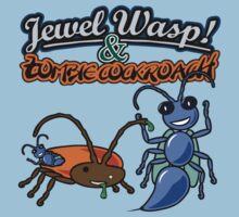 Jewel Wasp & Zombie Cockroach by jezkemp