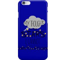 My Thoughts Are Stars I Cannot Fathom Into Constellations iPhone Case/Skin