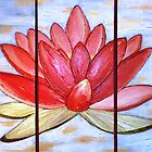 Lotus Flower Acrylic  by Michelle Potter