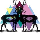 Triangle Deers by MadebyMaid