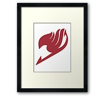 Fairy Tail Guild Red Logo  Framed Print