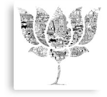 BJP LOTUS DOODLE Canvas Print