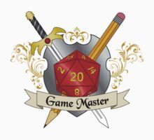 Game Master Red d20 Crest Sticker by NaShanta