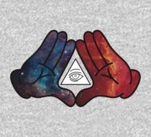 Mickey Mouse Diamond Hands Blue/Red Space (illuminati) by mullian
