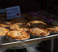 Fruit Pies In Sweet Trolley Bakery's Window by Gary Chapple