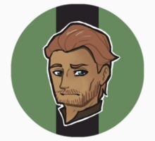 Chibi Jorah Mormont - Round Sticker 02 by BlackLemonJuice