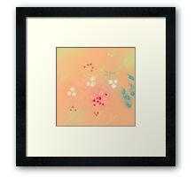 Floral life explosion - peach Framed Print