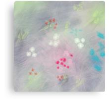 Floral life explosion - grey Canvas Print