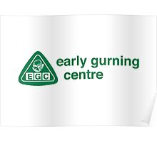 Early Gurning Centre Poster
