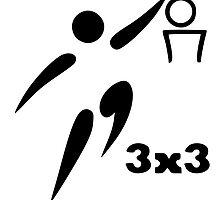 3-On-3 Basketball Pictogram by abbeyz71