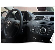 Mazdaspeed 3 Steering Wheel Poster