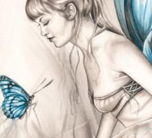 Whispering Wings Sticker