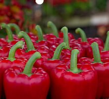 Red peppers on display at RHS Chelsea Flower Show Winner by Keith Larby