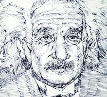ALBERT EINSTEIN - drawing portrait by lautir