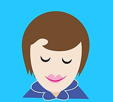 MIDWIFE womans face in a blue uniform by jazzydevil