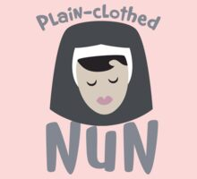 Plain-clothed nun with nuns face by jazzydevil