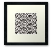 Black and white scale ornamental pattern Framed Print