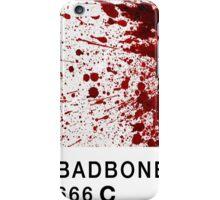 Bad Bone (Pantone) Blood 666 iPhone Case/Skin