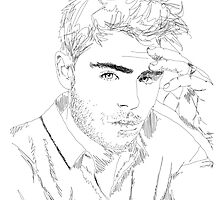 Zac Efron - Simple Lines by chessromeo