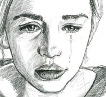 Tears falling down Sticker