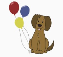 Puppy With Balloons Kids Clothes