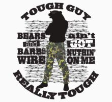 Tough guy macho man overkill bears barbed wire Kids Clothes