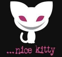 Nice Kitty (Dark Background) Kids Clothes