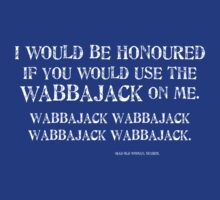 Wabbajack 1 White for Tanktop, V-neck, scoop neck. by CaelisMiran