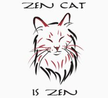 Zen Cat (With Text) Kids Clothes