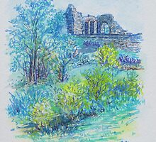 Halton Castle From St. Mary's Church by Barbara Smith